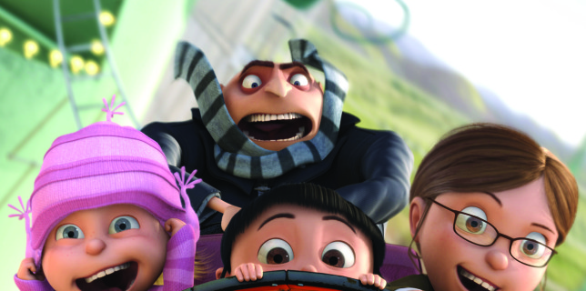 Despicable Me - Gru and Girls on Rollercoaster